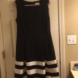 Black with white stripes dress
